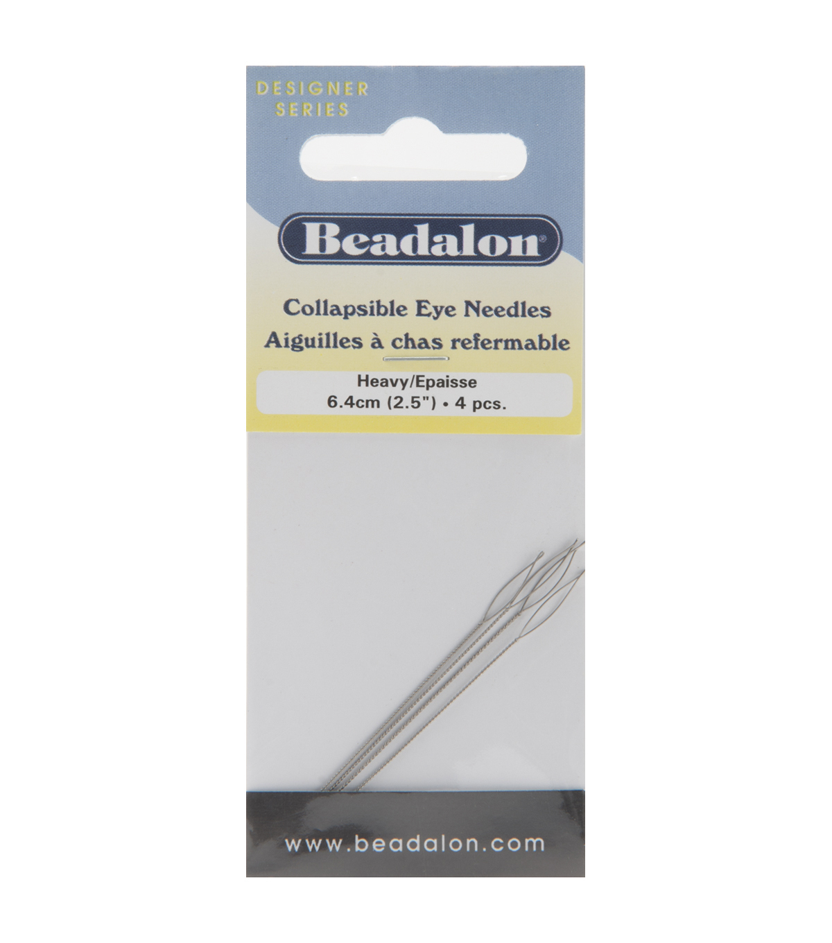 Collapsible Eye Needles 2.5\u0022 4/Pk-Heavy