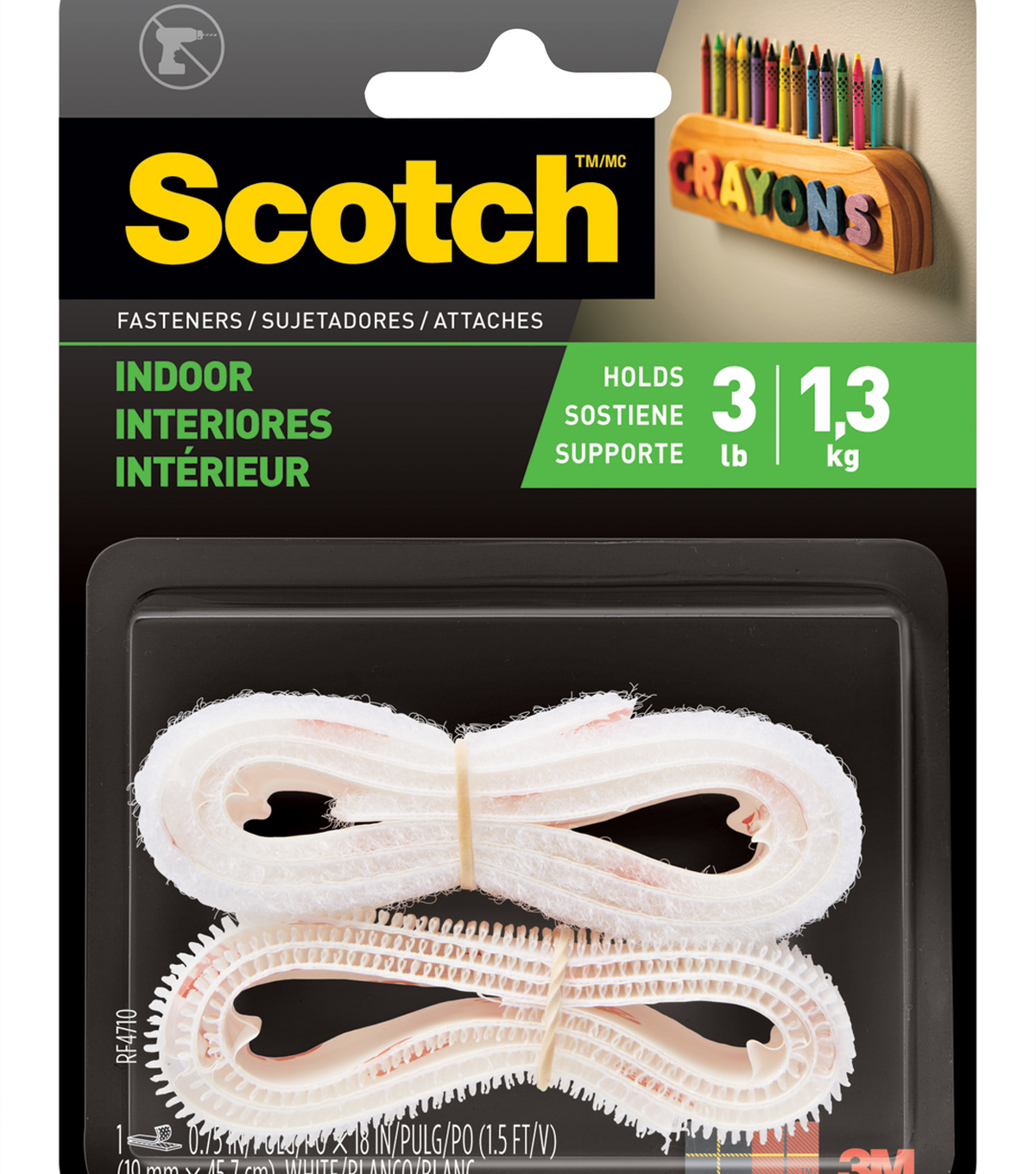 Scotch Fasteners Indoor White Strip