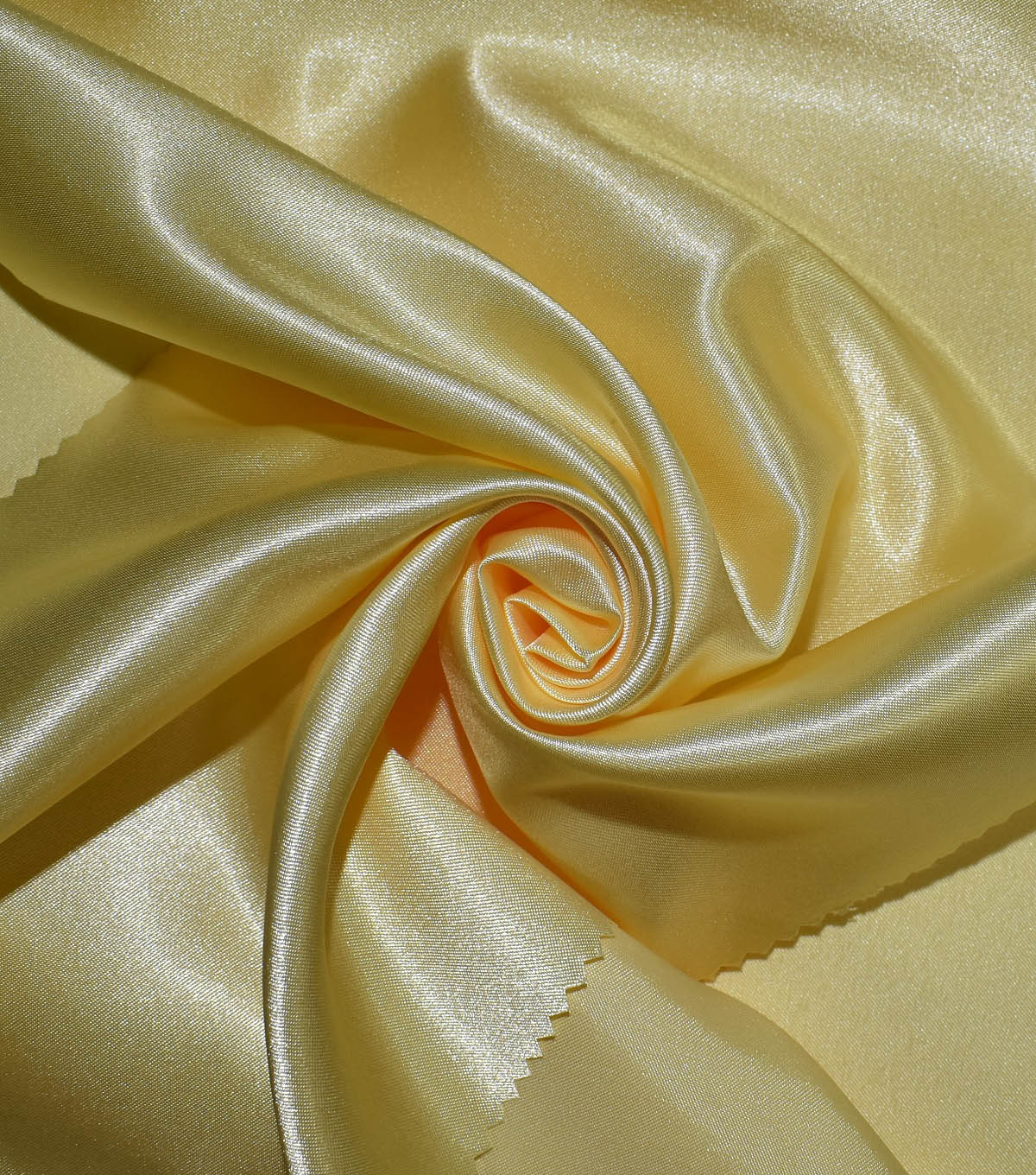 Casa Collection Shiny Satin Fabric, Pastel Yellow