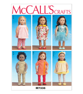 McCall\u0027s Crafts Doll Clothes-M7336