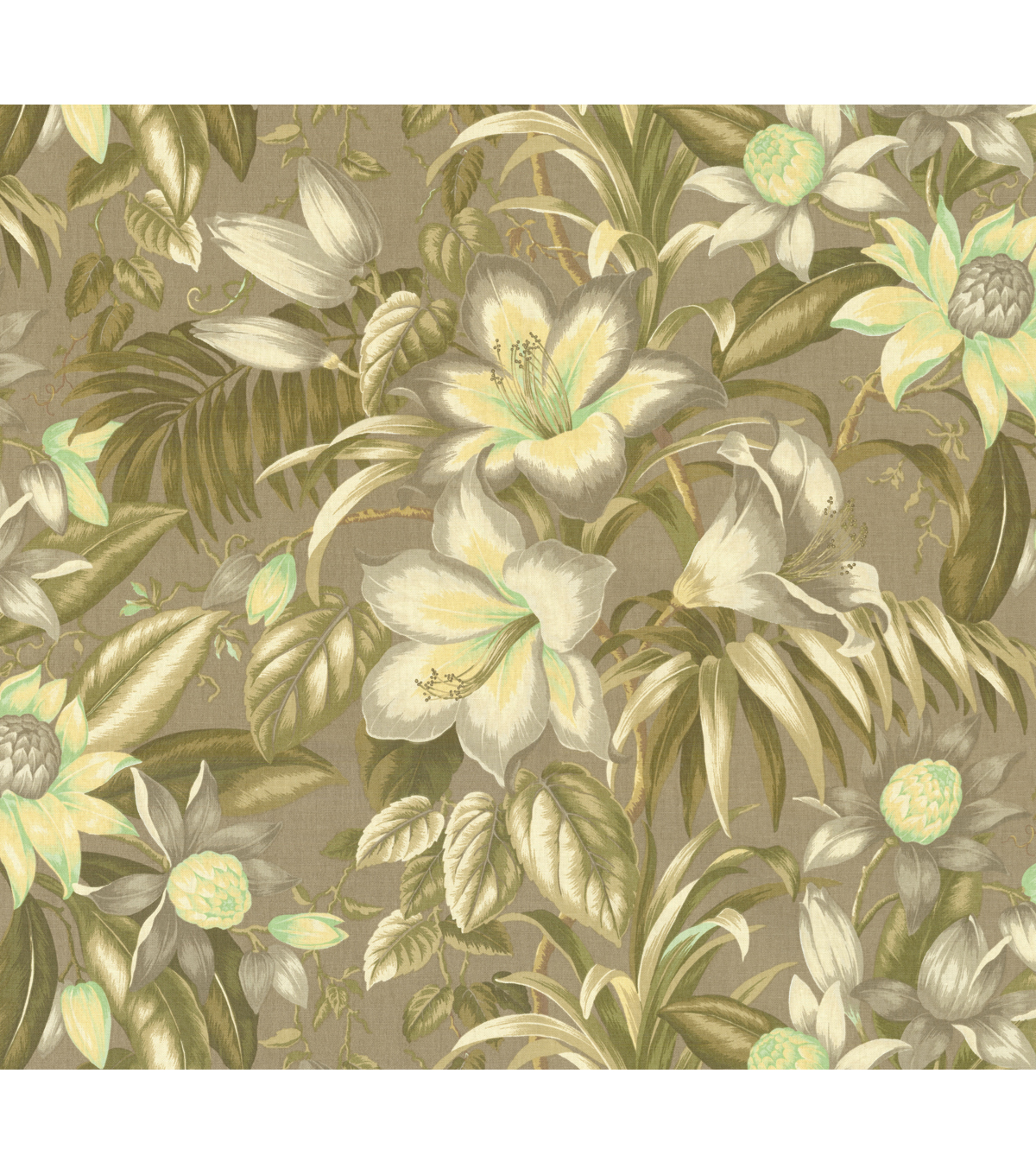 Tommy Bahama Lightweight Decor Fabric 54\u0022-Botanical Glow/Lemoncello