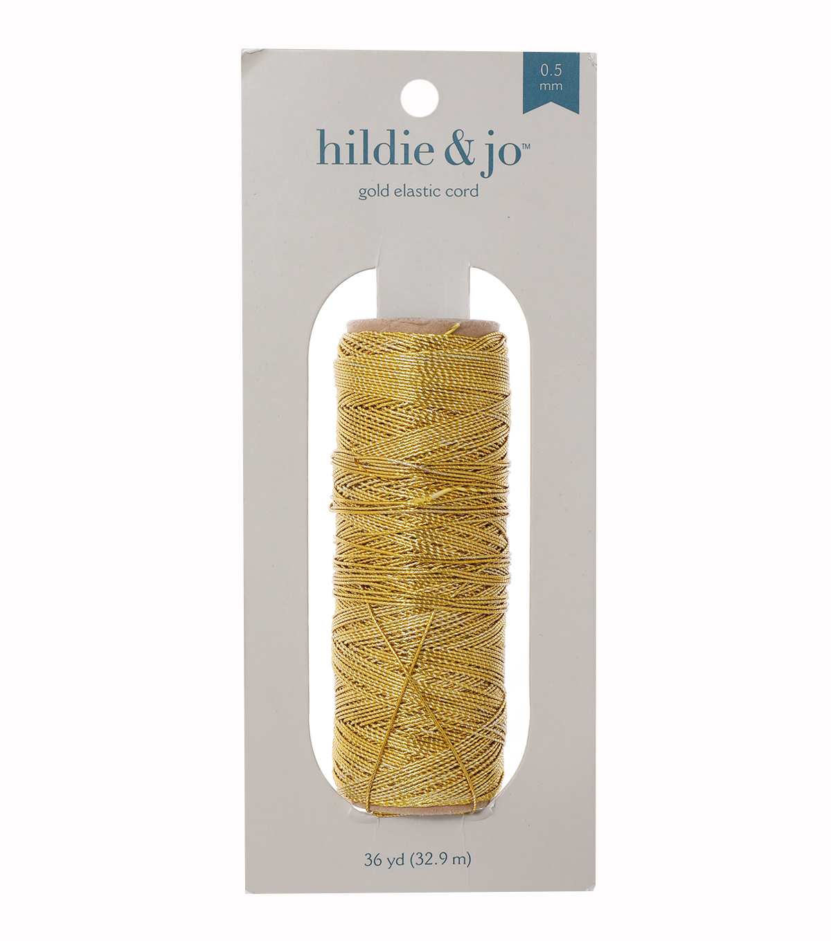 Gold Elastic Cord, 36 yards, .75 mm