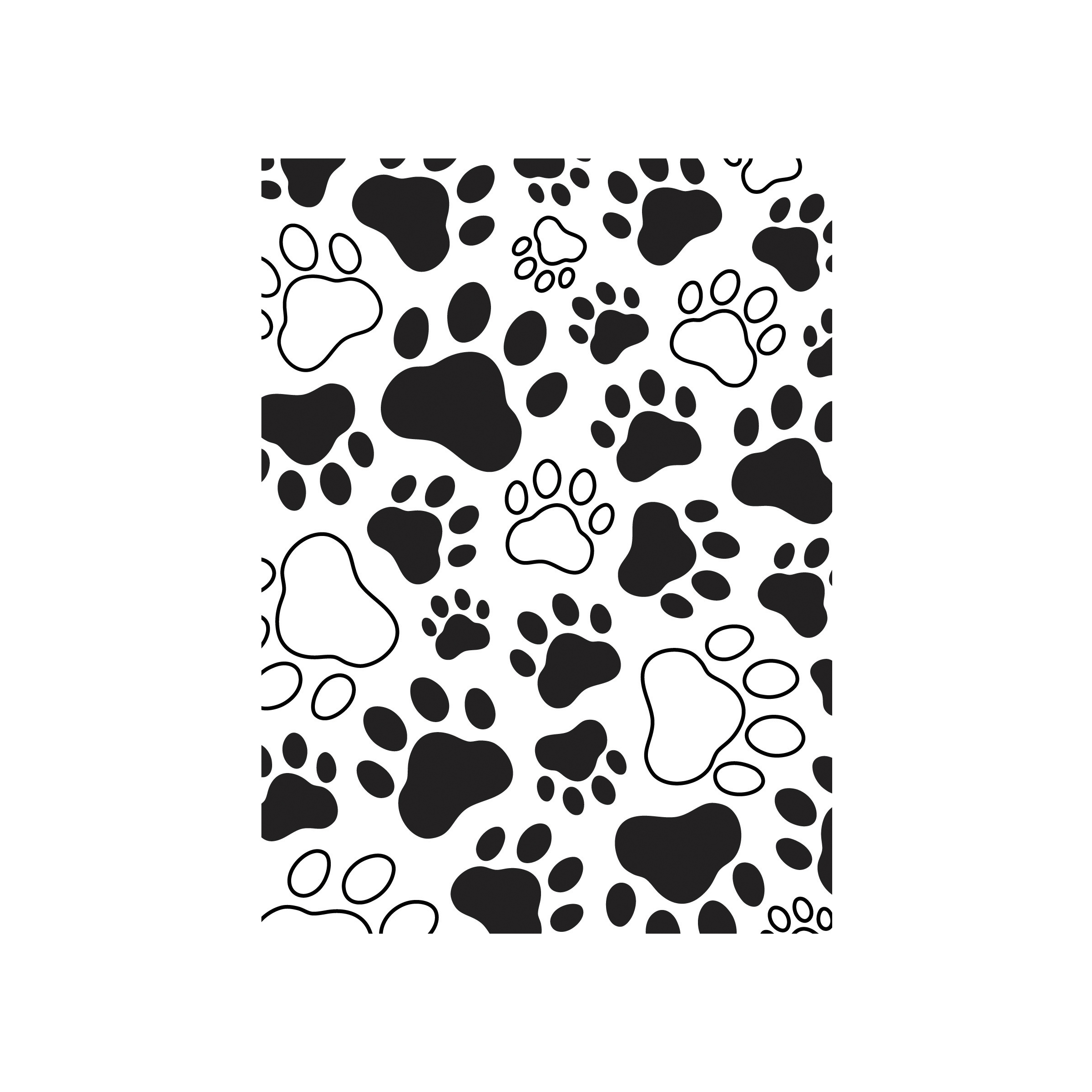 darice embossing folder paw prints 4 1 4 x 5 3 4 inches joann