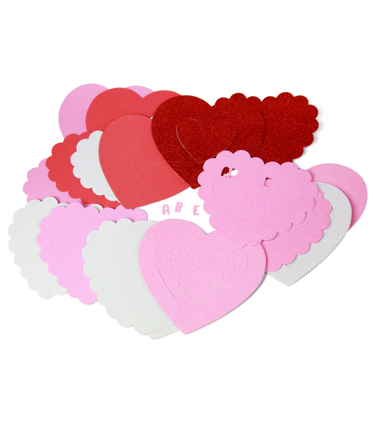 Valentines Day Heart Light Pink Cream Love Romance Cotton Novelty Fabric YARD
