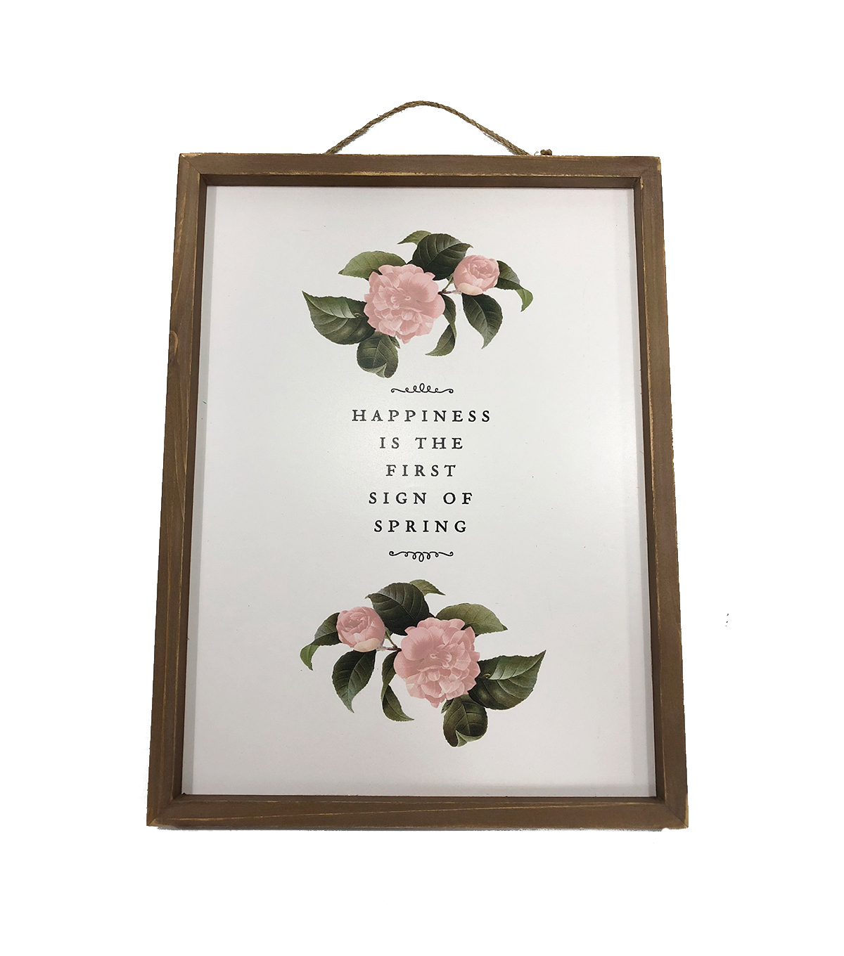 Simply Spring Wall Decor-Floral & Happiness is the First Sign of Spring