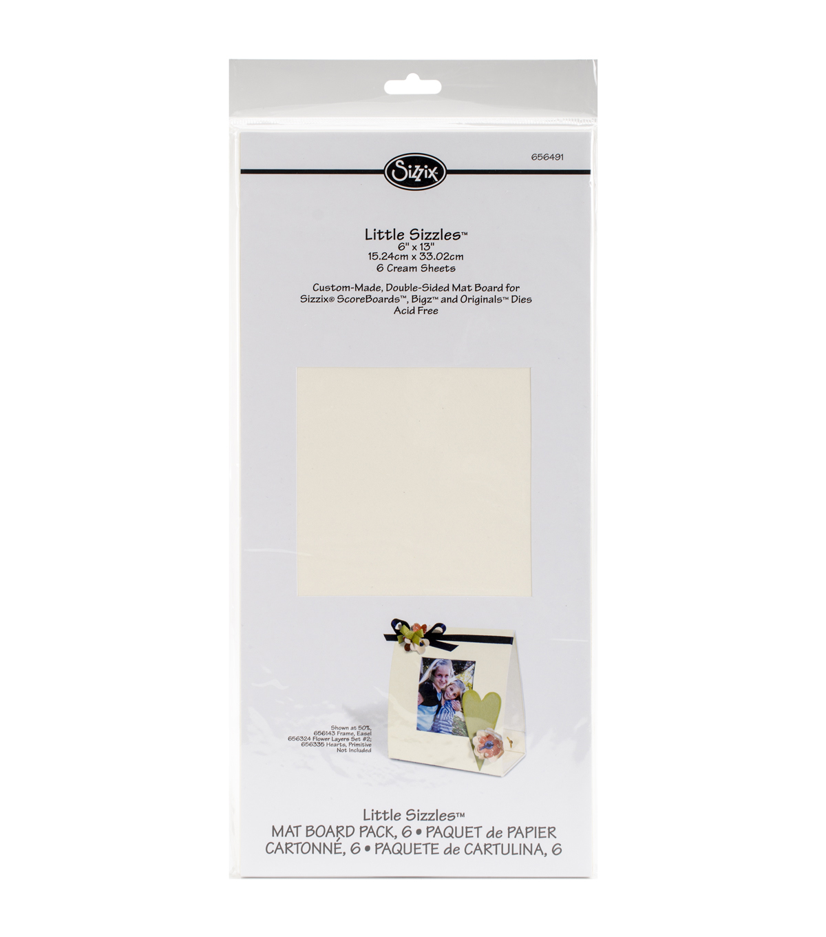 Sizzix Little Sizzles 6 Pack 6\u0027\u0027x13\u0027\u0027Mat Boards-Cream
