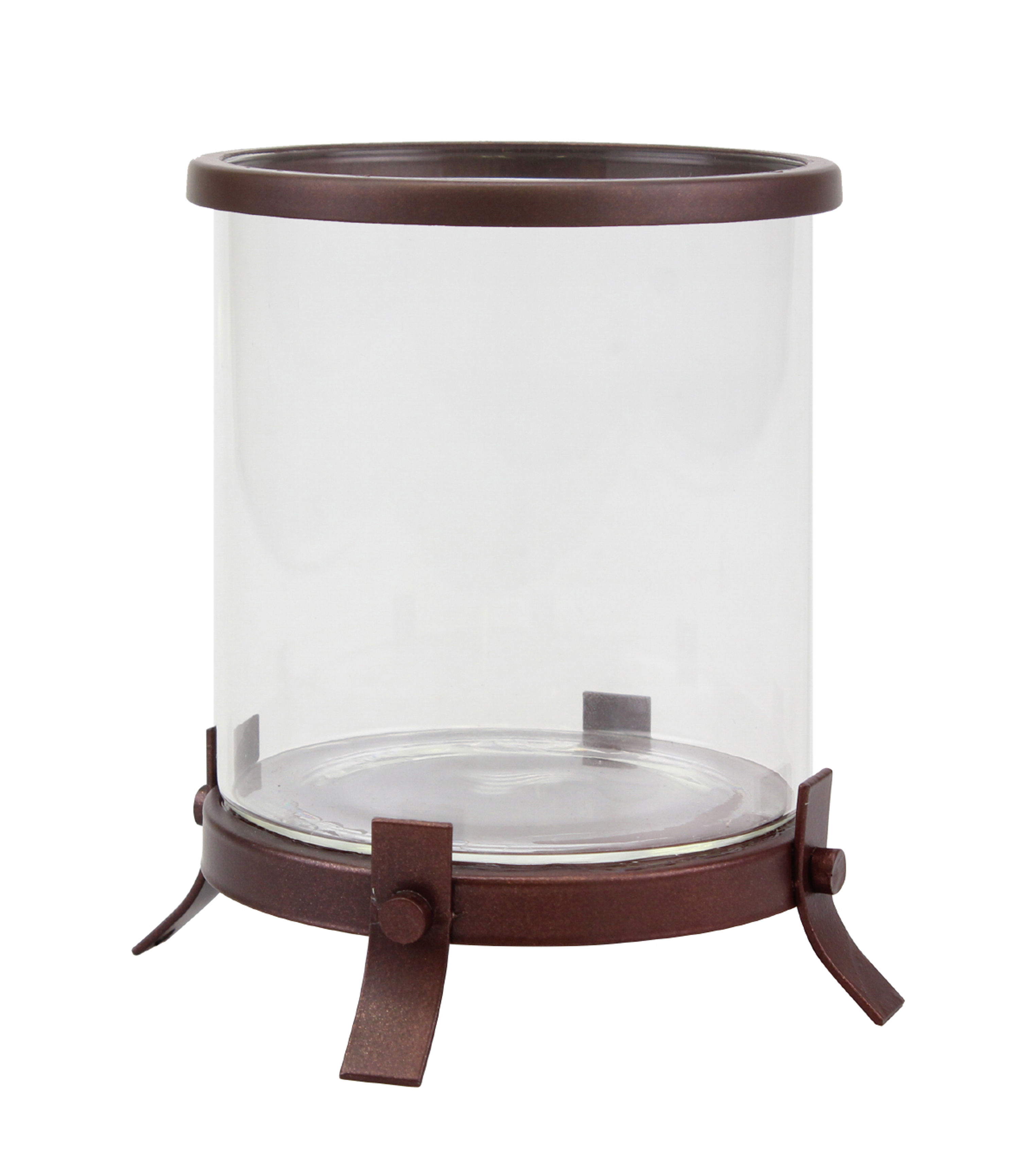 Hudson 43 Small Hurricane Candleholder with Feet