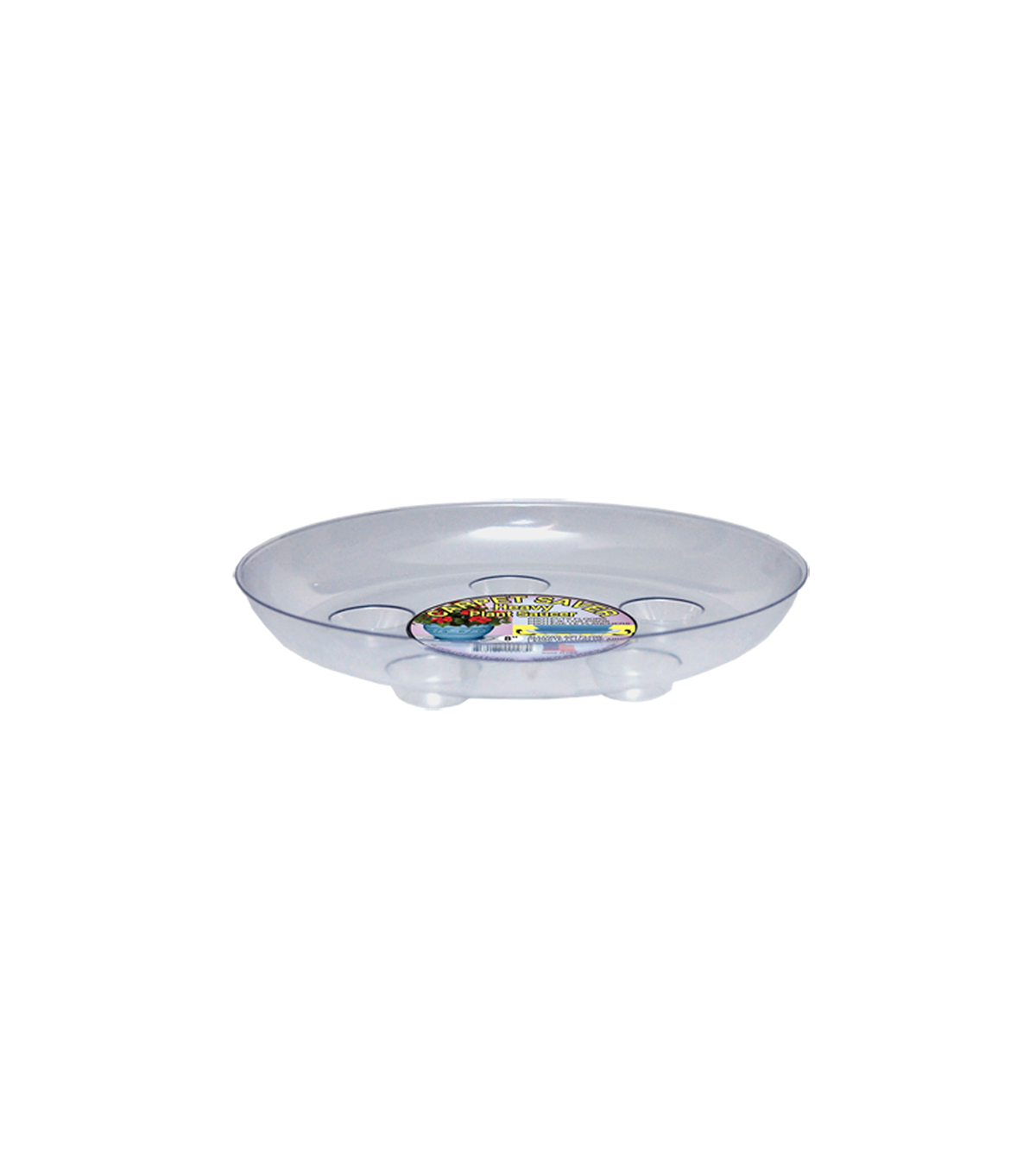 Heavy Gauge Carpet Saver Saucer 8''