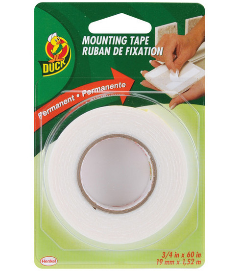 Duck 3/4\u0022x60\u0022 Double-Sided Mounting Tape-Permanent