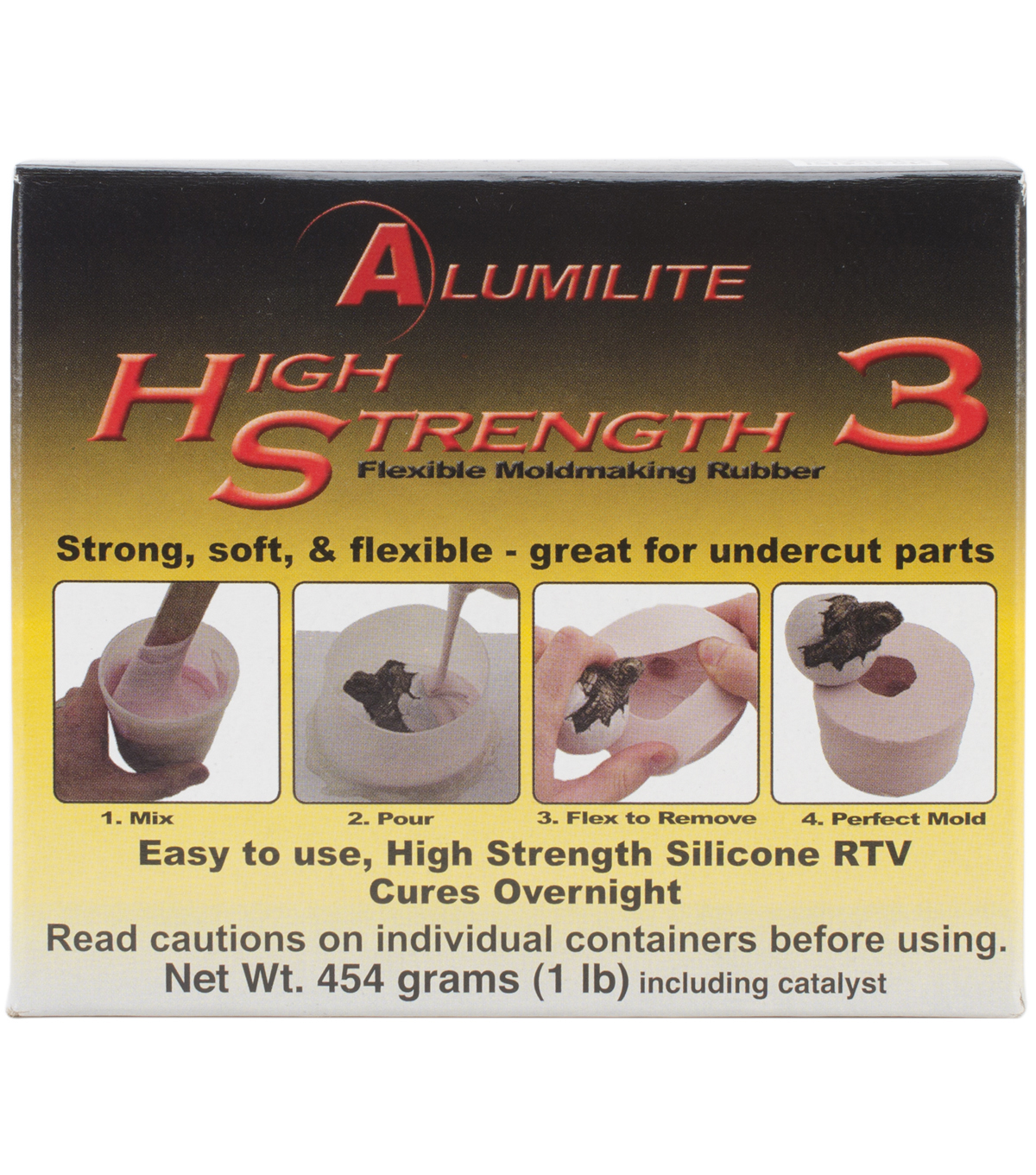 Alumilite 1 lb High Strength 3 Liquid Mold Making Rubber-Pink