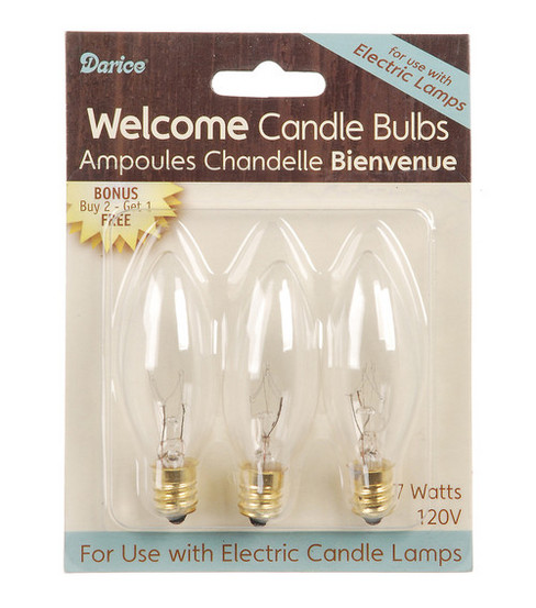 Darice 3 Pk Welcome Candle Bulbs