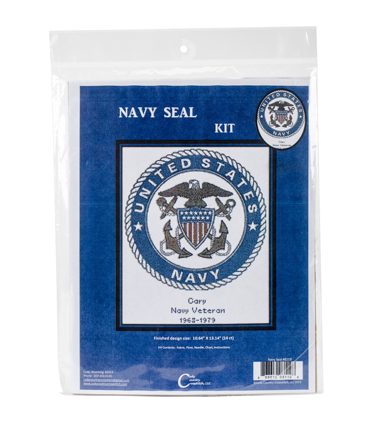 Cody Country Counted Cross Stitch Kit-U.S. Navy Emblem