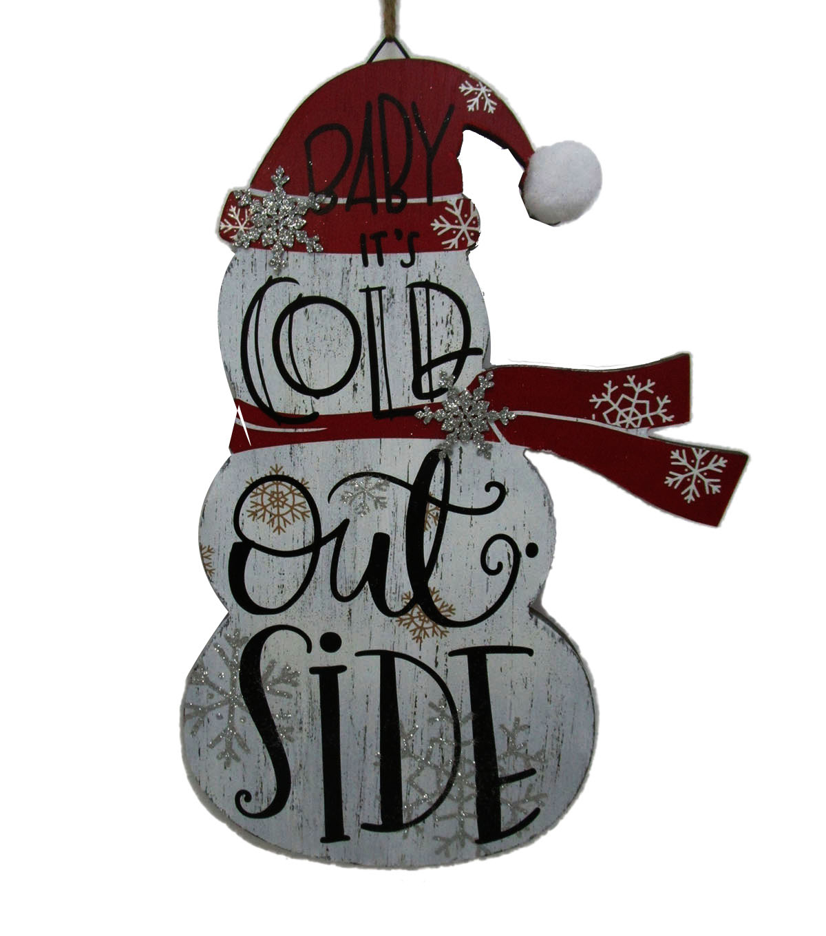 Maker\'s Holiday Christmas Snowman Wall Decor-Baby It\'s Cold ...