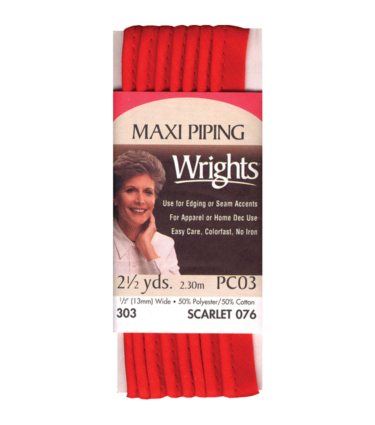 Wrights Maxi Piping 1/2\u0022 2-1/2 Yards
