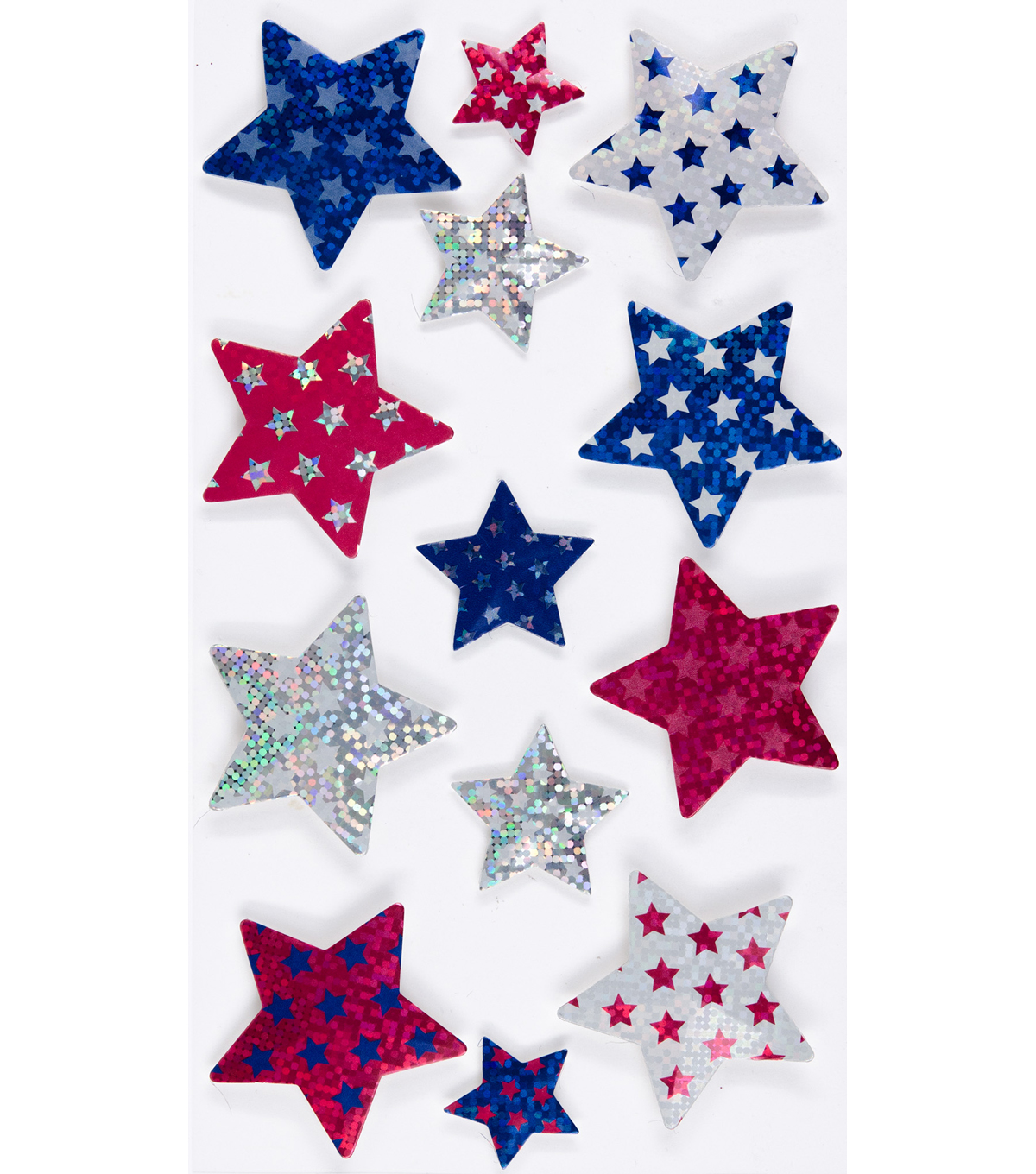 Faceted Stars Sticker