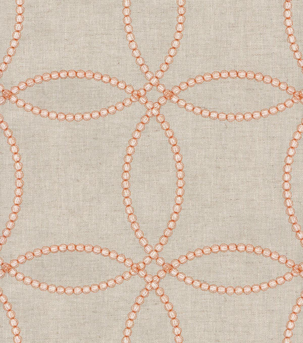 P/K Lifestyles Upholstery 8x8 Fabric Swatch-String Along Emb/Copper