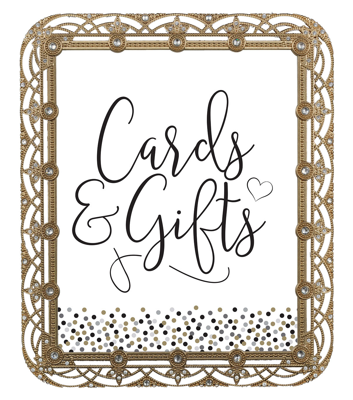 Save The Date 8\u0027\u0027x10\u0027\u0027 Gold Frame with Crystal-Cards & Gifts