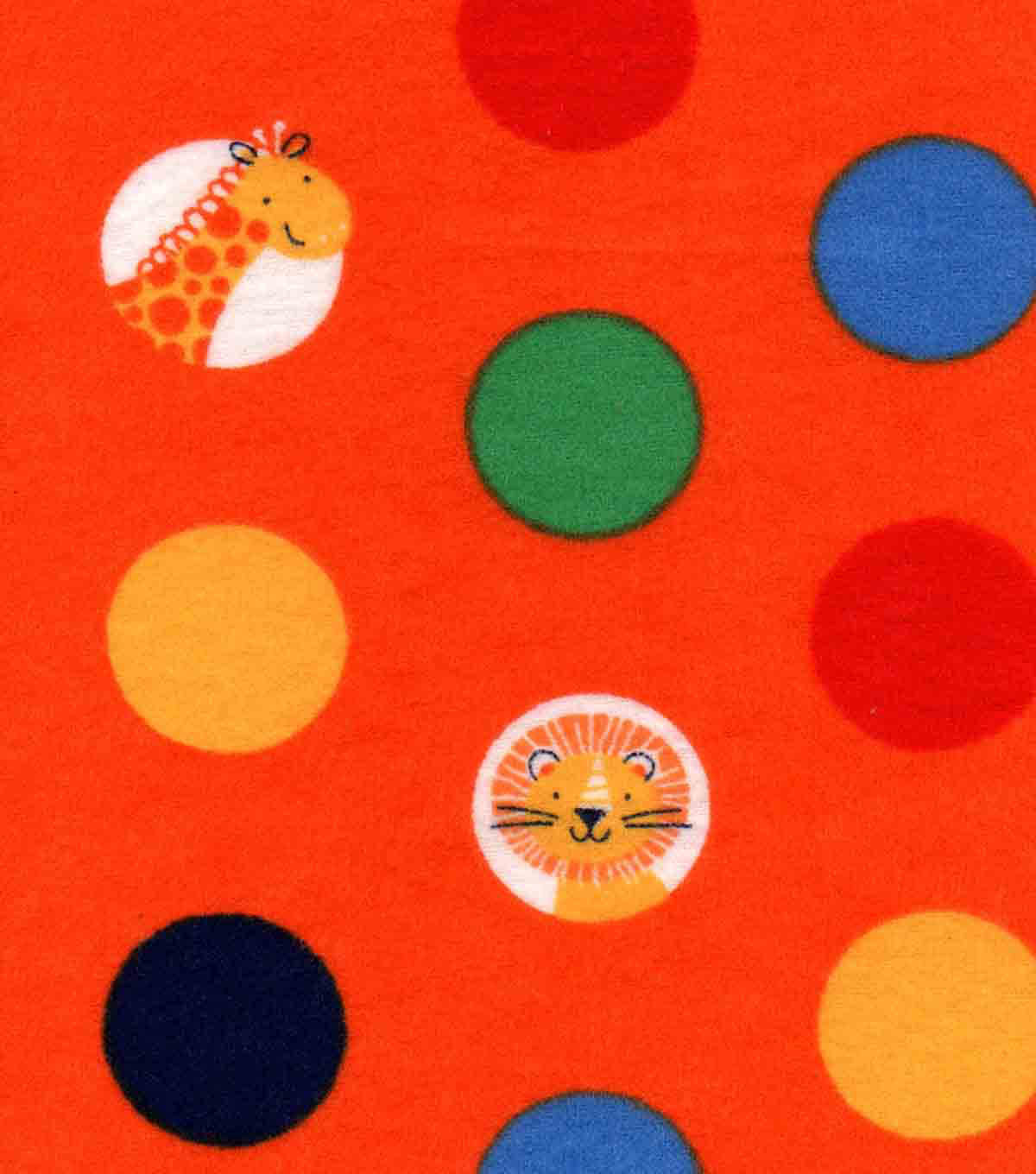 Nursery Flannel Fabric -Safari Dot