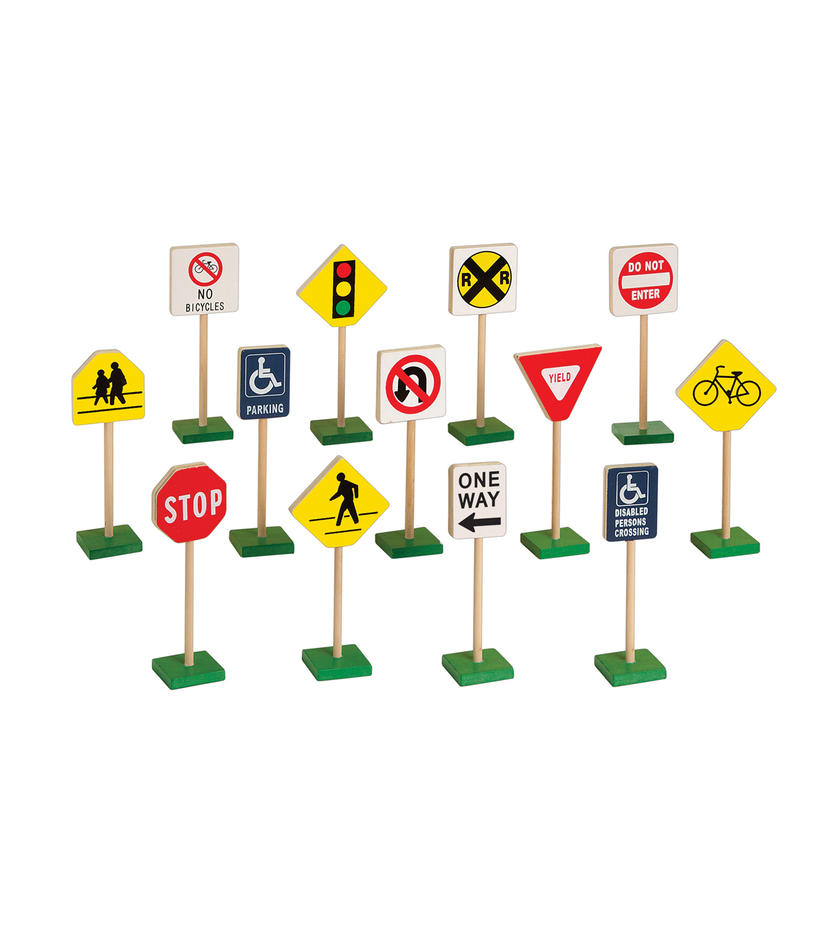 7-Inch Block Play Traffic Signs, 13 Piece Set