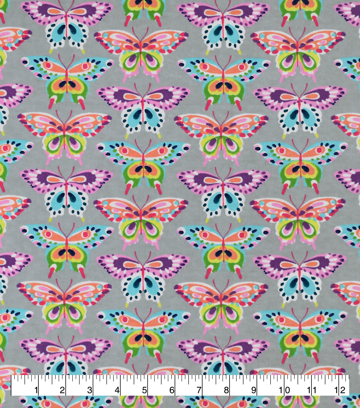 Snuggle Flannel Fabric-Butterflies With Spots