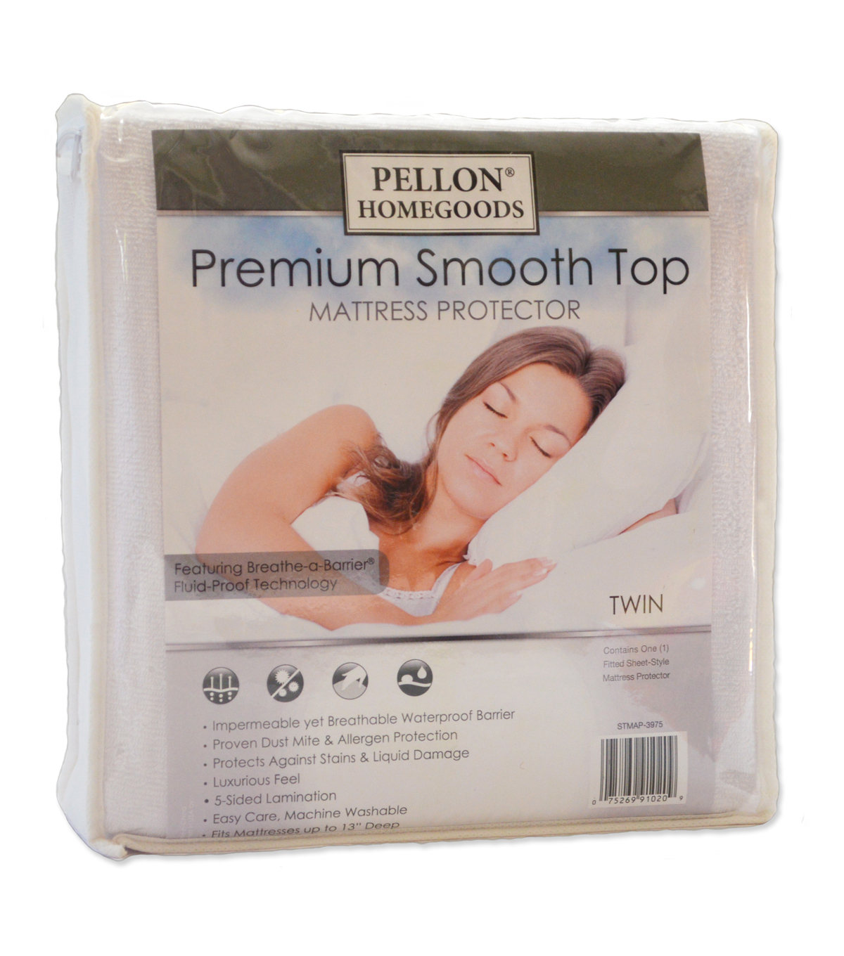 Pellon Premium Smooth Top Mattress Protector Twin 39\u0022X 75\u0022