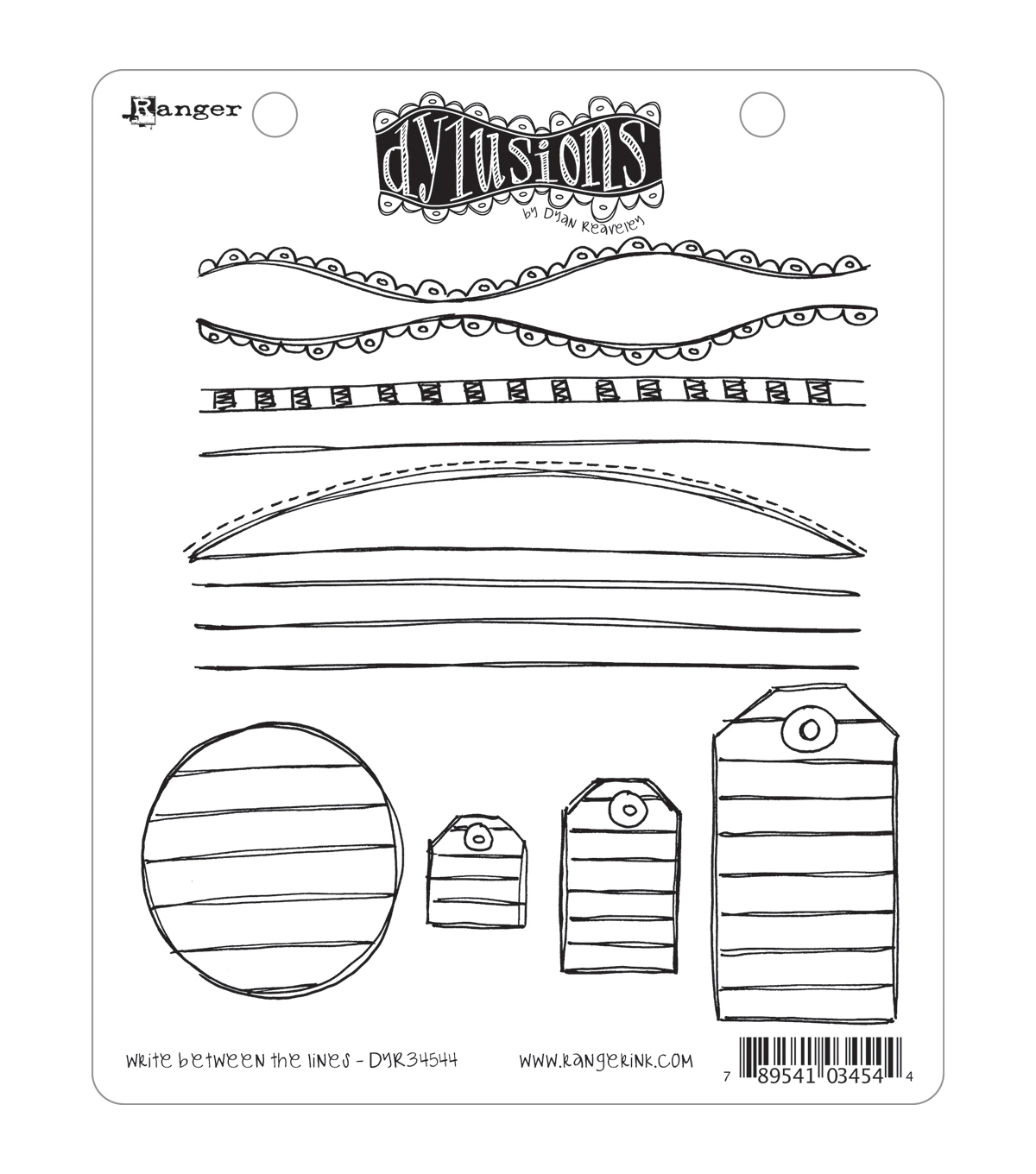 Dyan Reaveley\u0027s Dylusions Cling Stamp Collection-Write Between The Lines