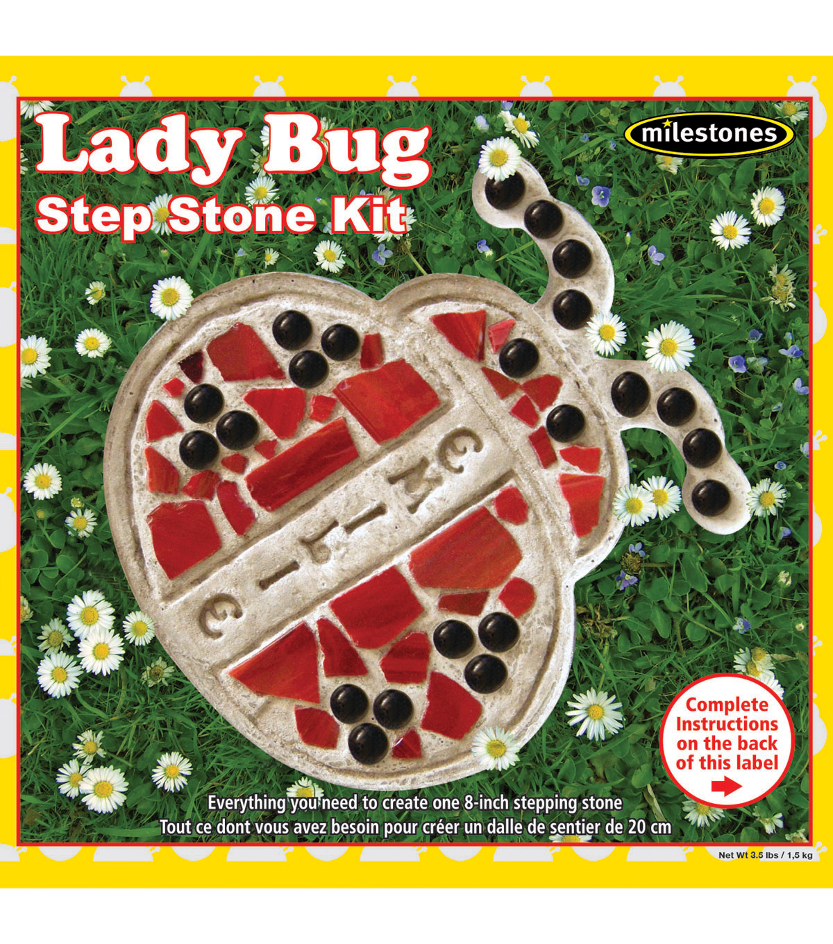 Milestones 8\u0027\u0027 Mosaic Stepping Stone Kit-Lady Bug