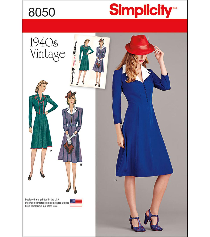 d1c6c962ff47a Simplicity Vintage 1940'S Dress Pattern-14-16-18-20-22 | JOANN