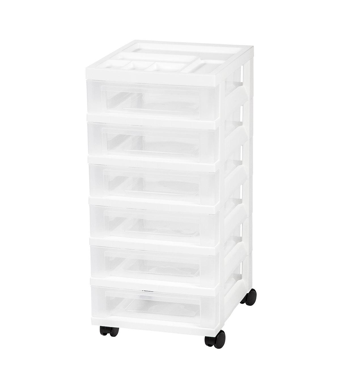 10 Drawer Rolling Storage Cart Home Organizer Iris Black Plastic Office College