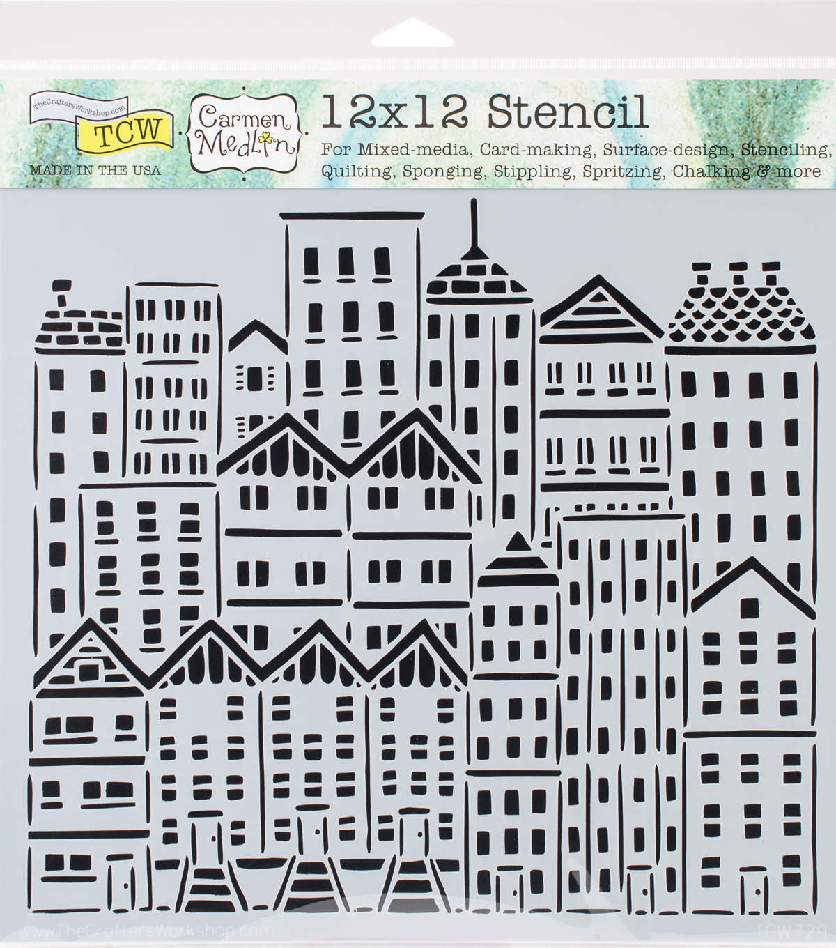 Crafter\u0027s Workshop Carmen Medlin Template 12\u0027\u0027x12\u0027\u0027-City Buildings