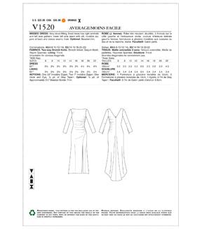 c06afb758ed92 Vogue Pattern V1520 Misses u0027 Gathered