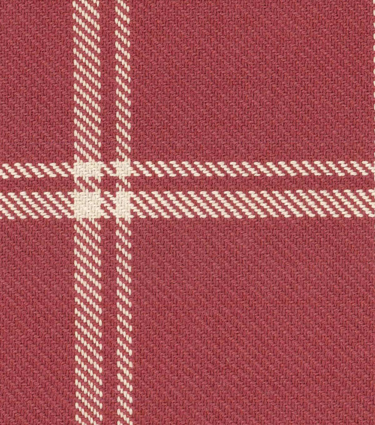 Waverly Upholstery Fabric 54\u0027\u0027-Cinnabar Bloomsbury Plaid