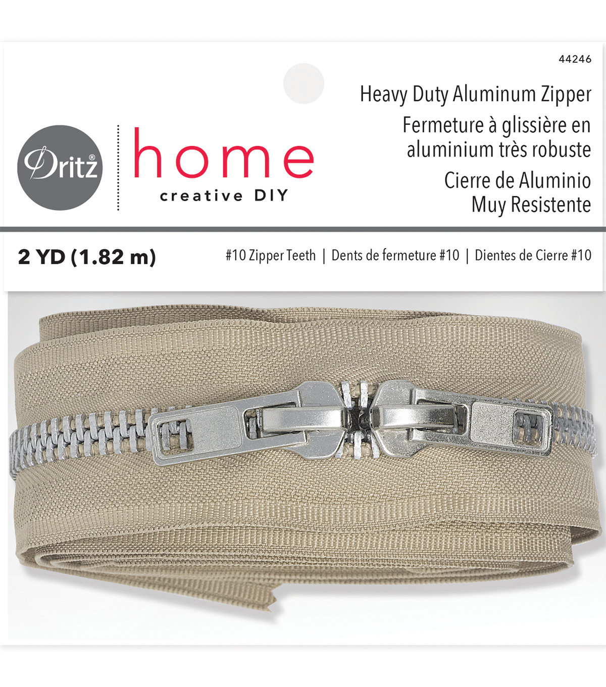 Dritz Home 72\u0022 Heavy Duty Zipper-Beige