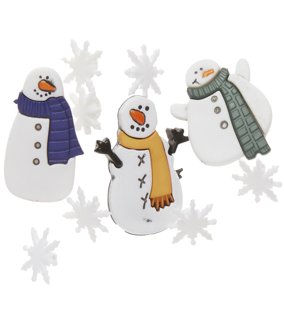 Favorite Findings Assorted Buttons-Snowman Brrr