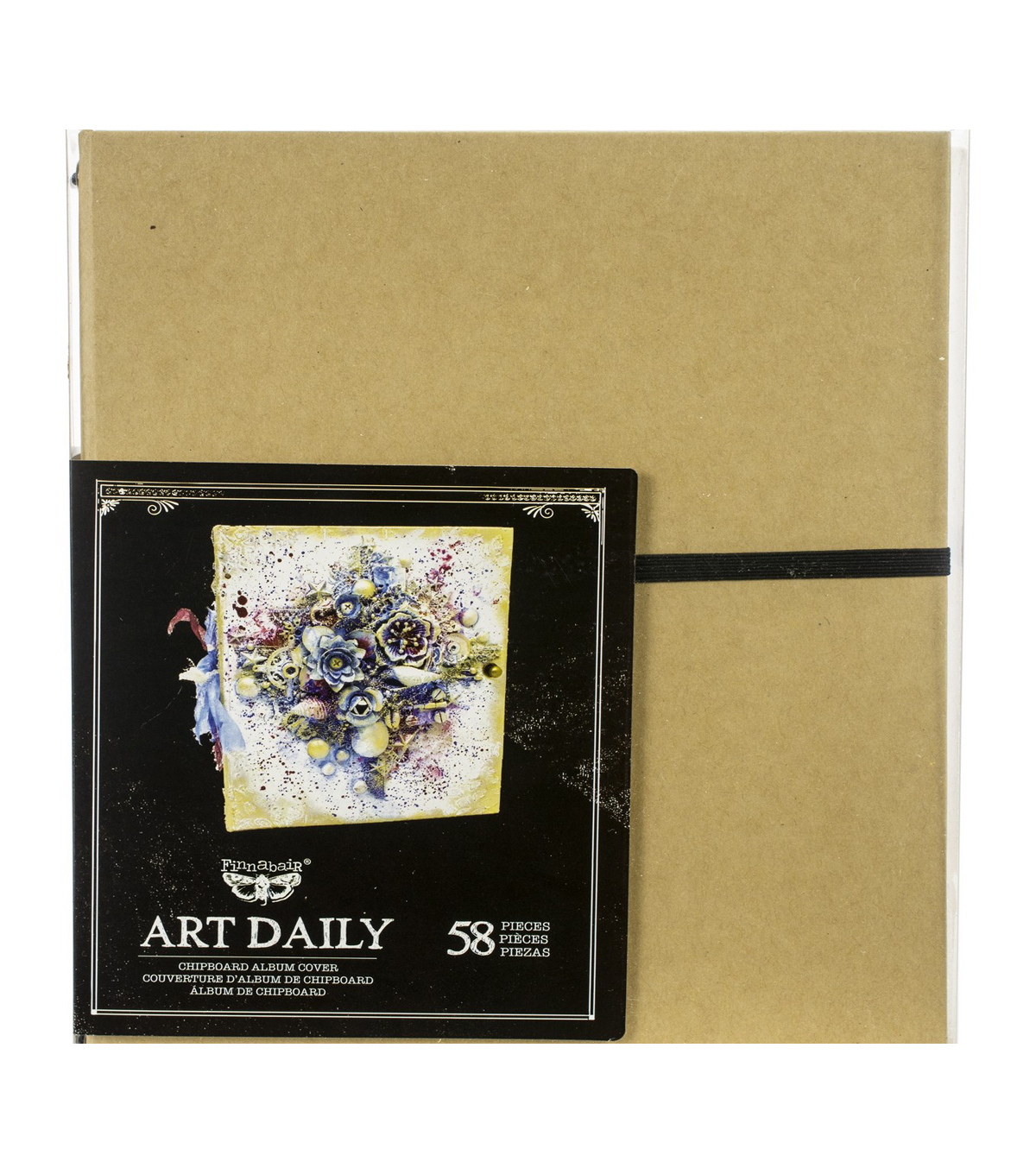 Prima Marketing Art Daily Chipboard Album Cover, Insert & Card Set