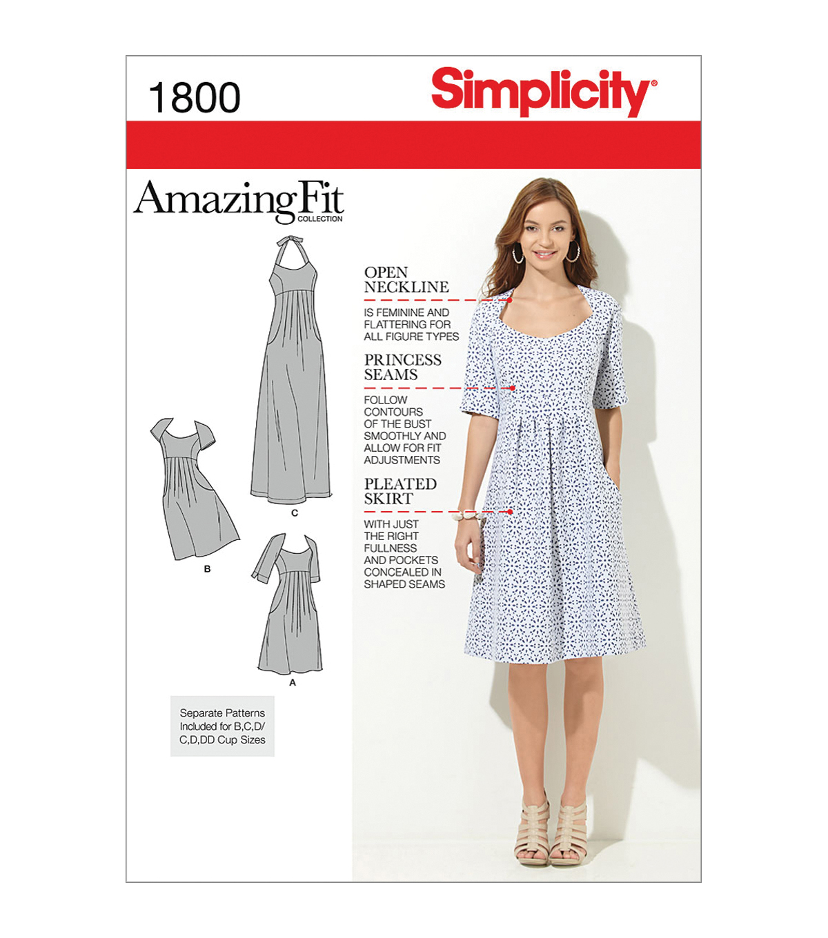Simplicity Patterns Us1800Bb-Simplicity Misses Dresses-20W-28W