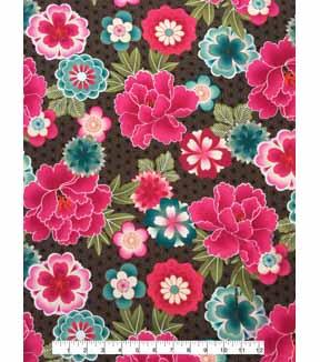 f234def9cb7 Modern Apparel Knit Fabric 57\u0027\u0027-Pink & Aqua Modern Floral on