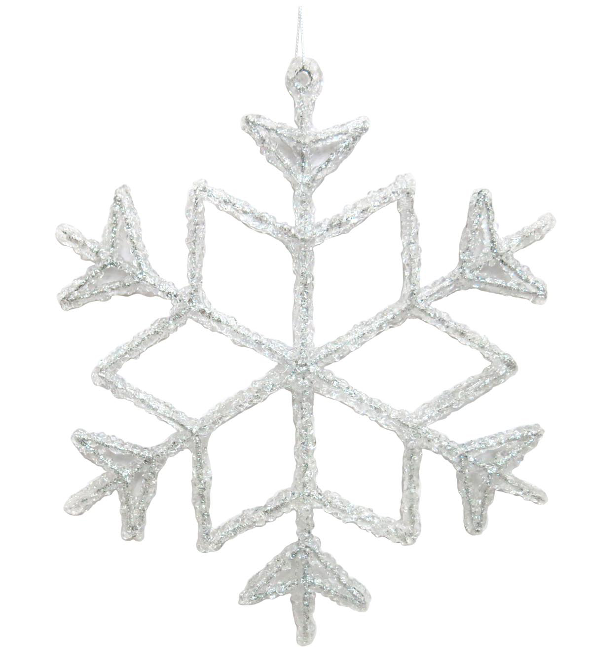 Maker\u0027s Holiday Arctic Frost Statement Snowflake Ornament-White