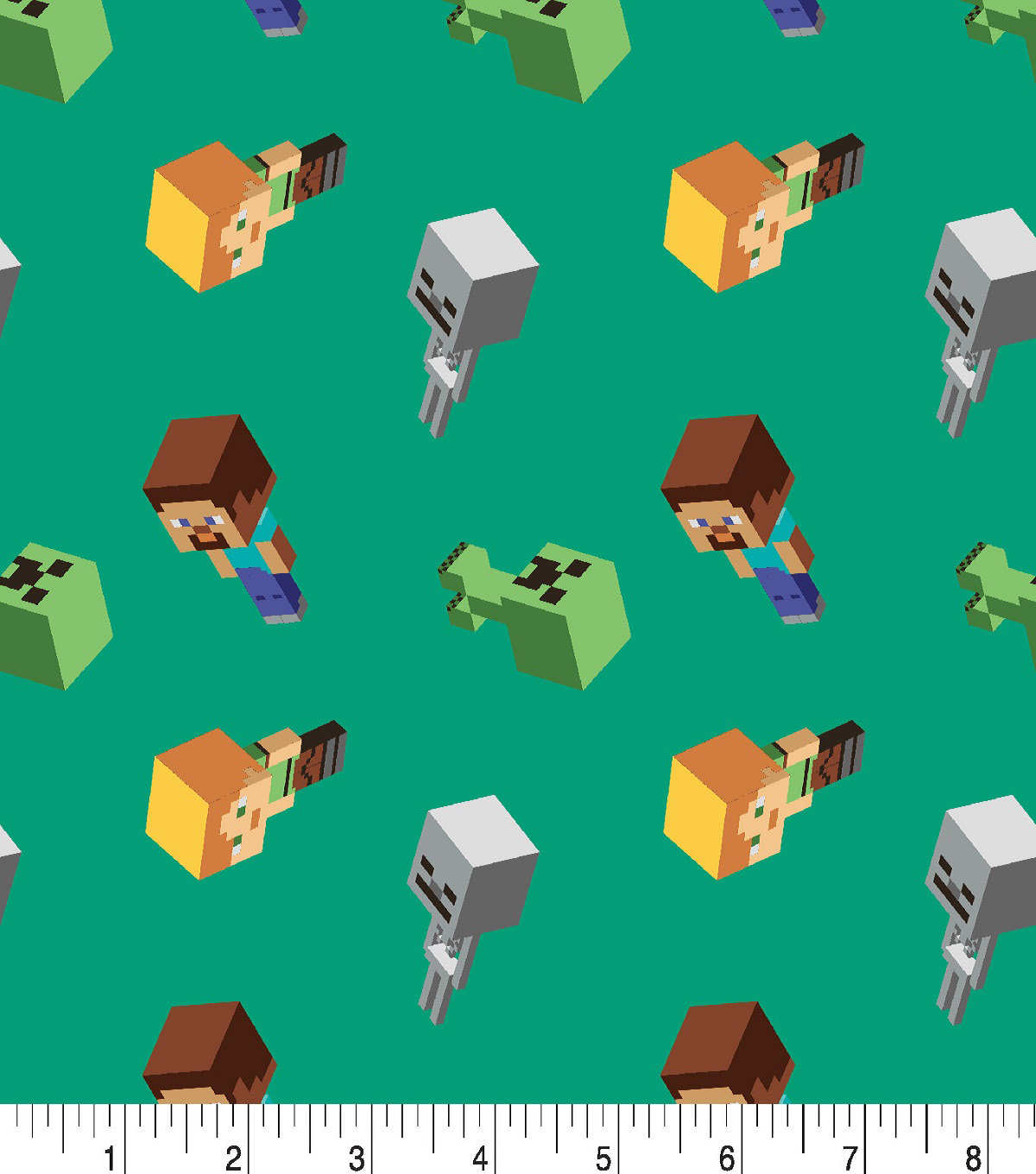 Minecraft Cotton Fabric -Day Mobs