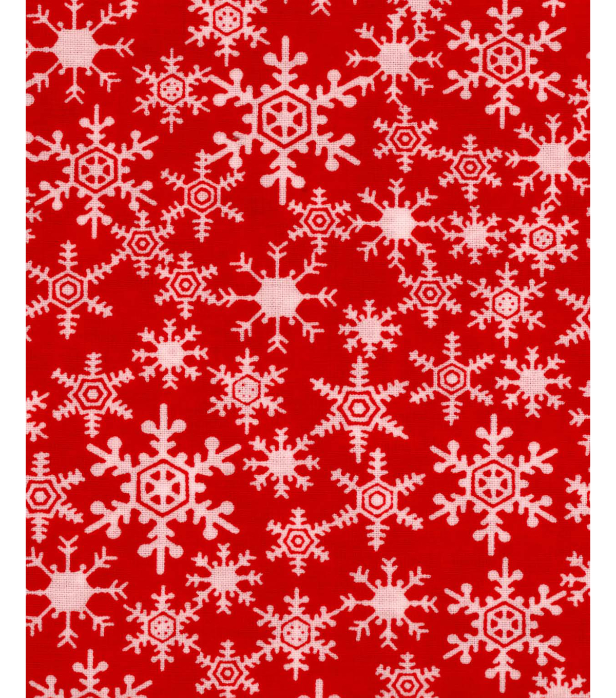 Noel Collection Christmas Snowflakes Red Joann