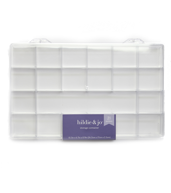 Plastic Storage 10.5\u0022X6.5\u0022X.875\u0022 21 Compartment