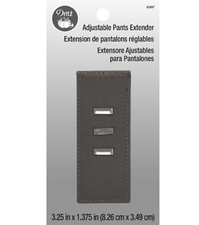 Dritz Adjustable Pants Extender-Silver Hook Gray