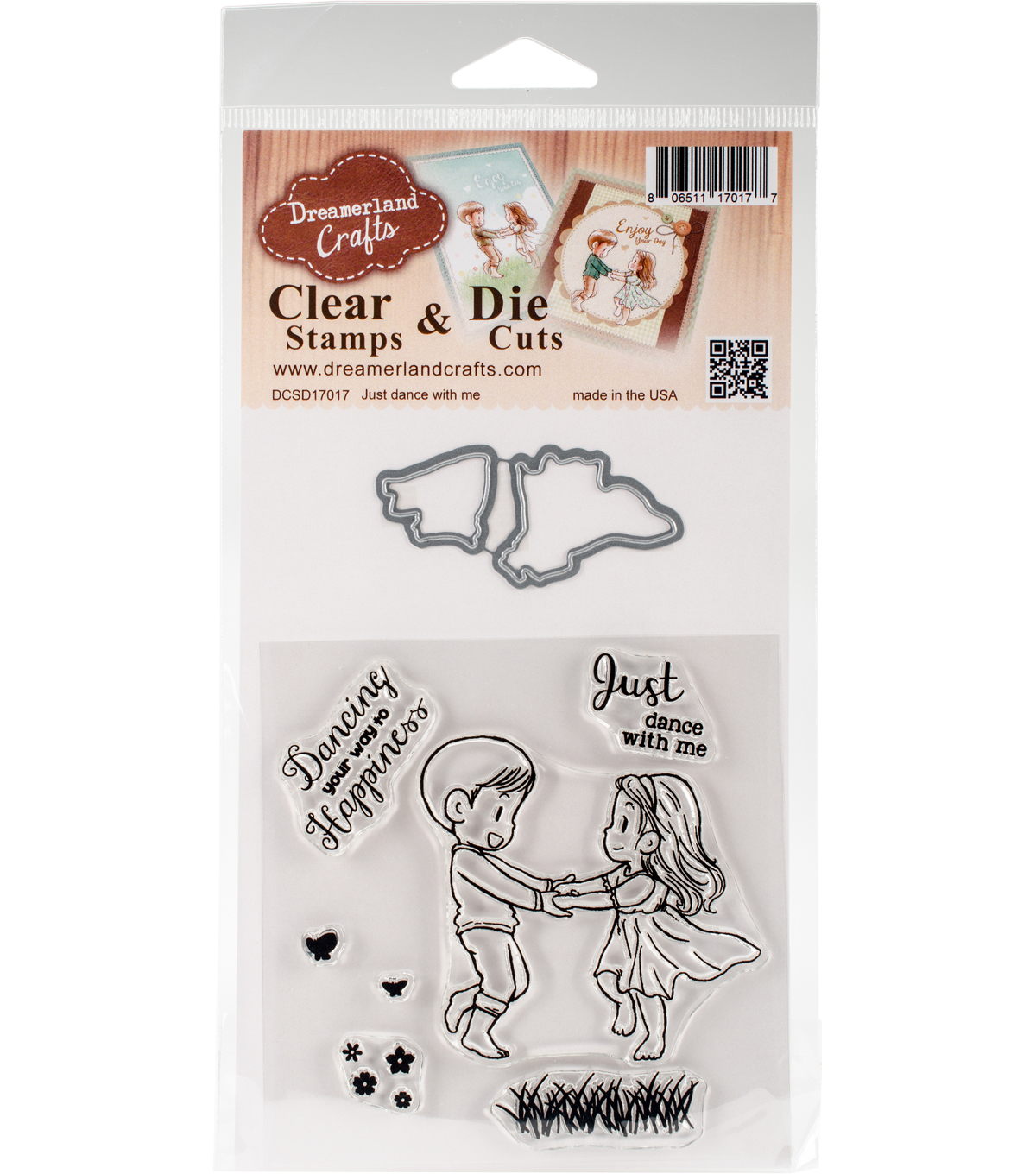 Dreamerland Crafts Clear Stamp & Die Cut Set-Just Dance With Me