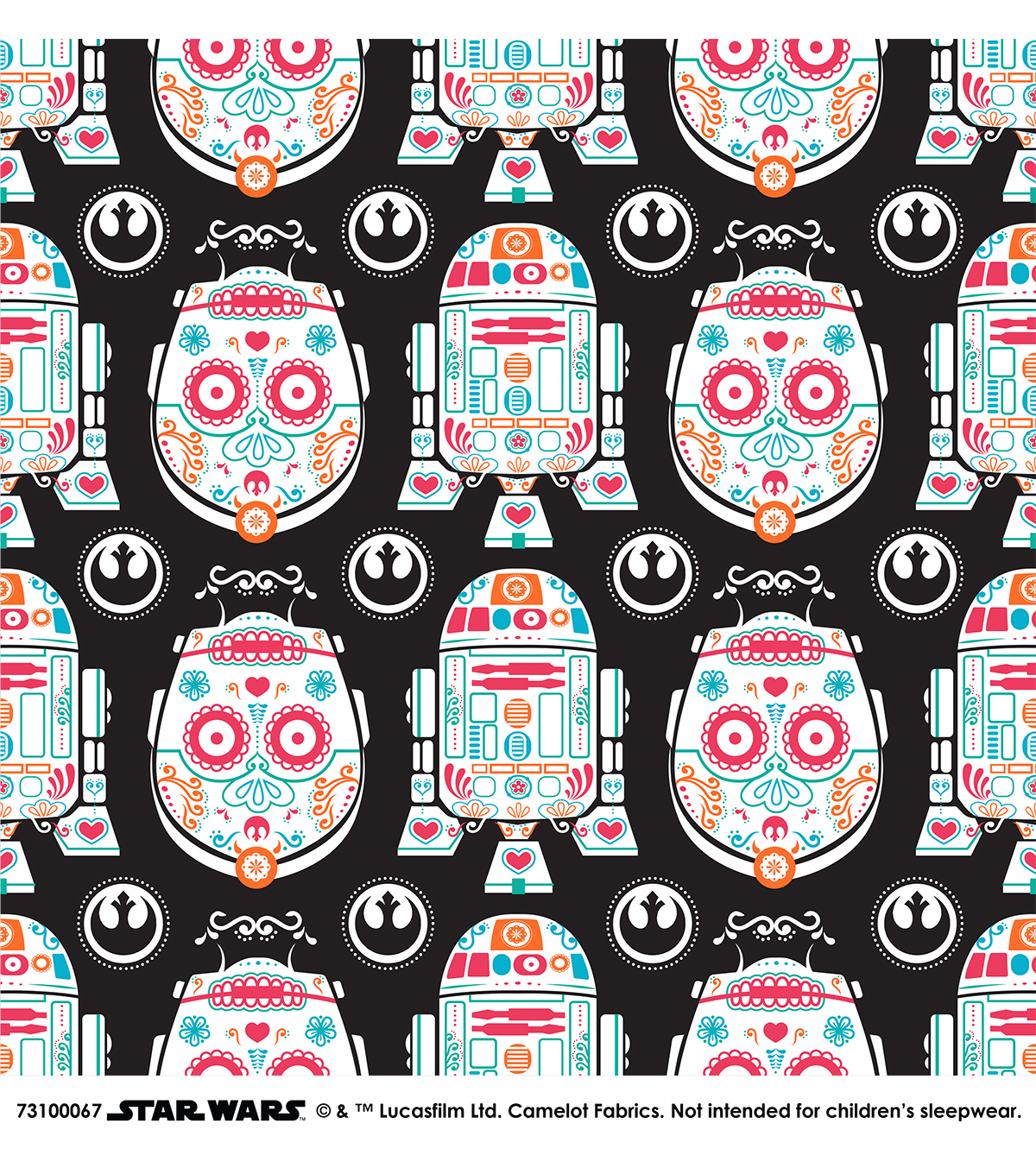 Star Wars Cotton Fabric -Character Sugar Skulls