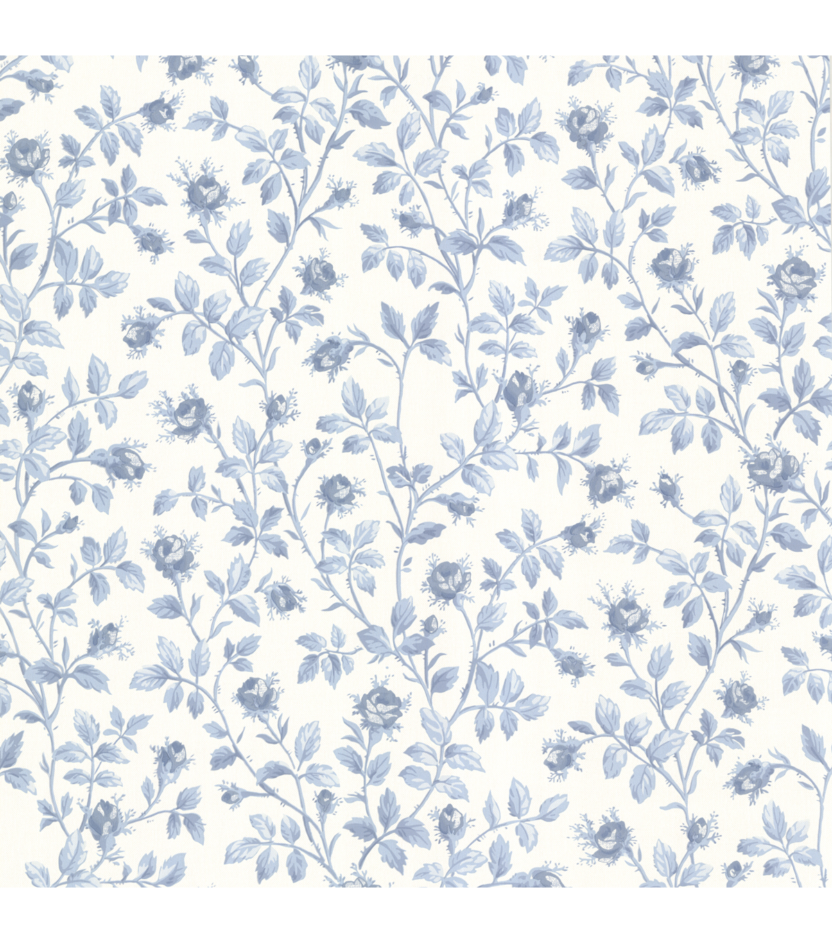 Jardin Blue Rosebud Trail Wallpaper Sample