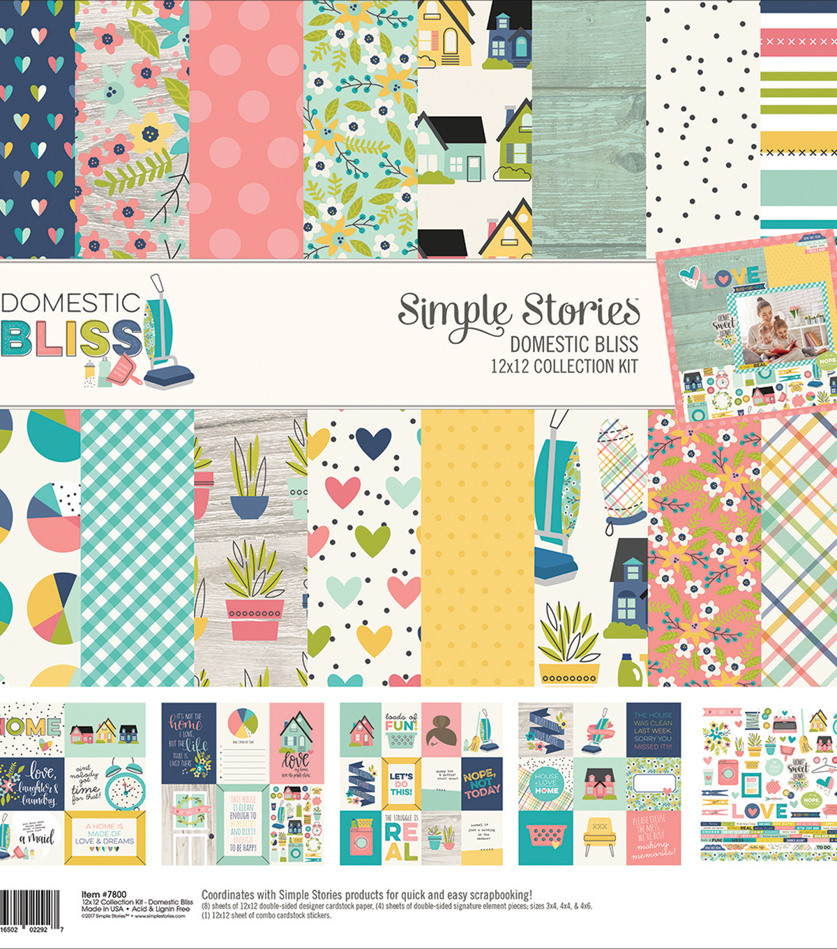 Simple Stories Collection Kit 12\u0022X12\u0022-Domestic Bliss