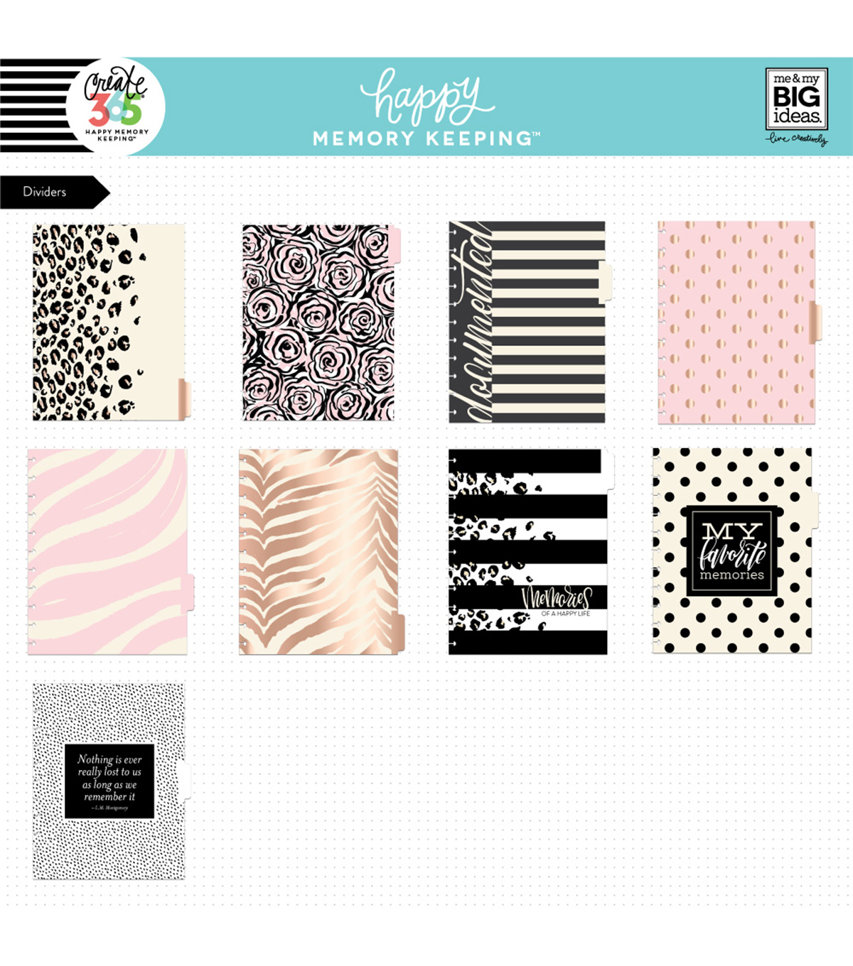 The Happy Planner Happy Memory Keeping  Big Planner Box Kit-Neutral