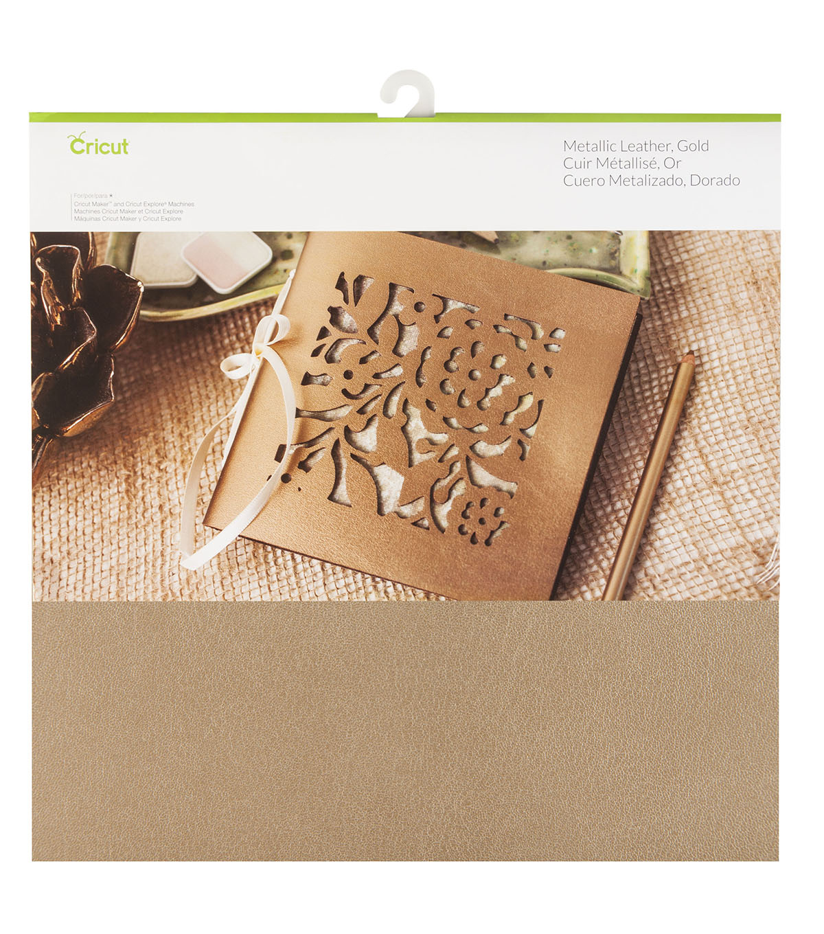 Cricut Metallic Leather Gold