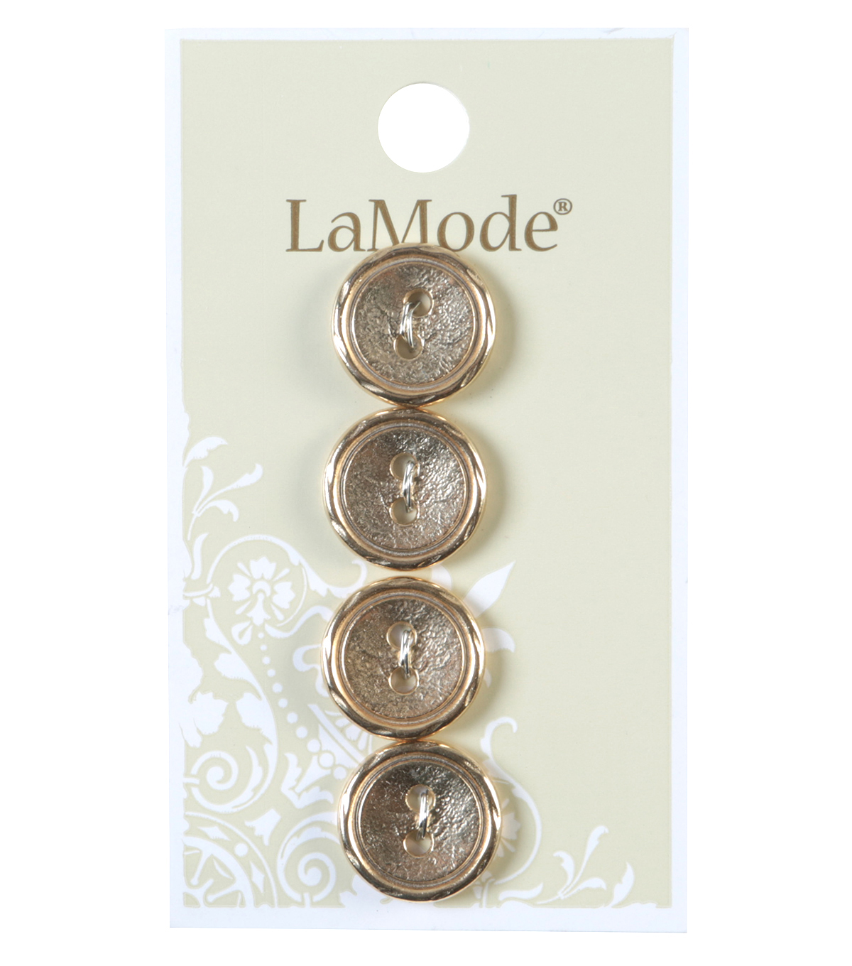 LaMode 2 Hole Gold Metal Buttons 16mm