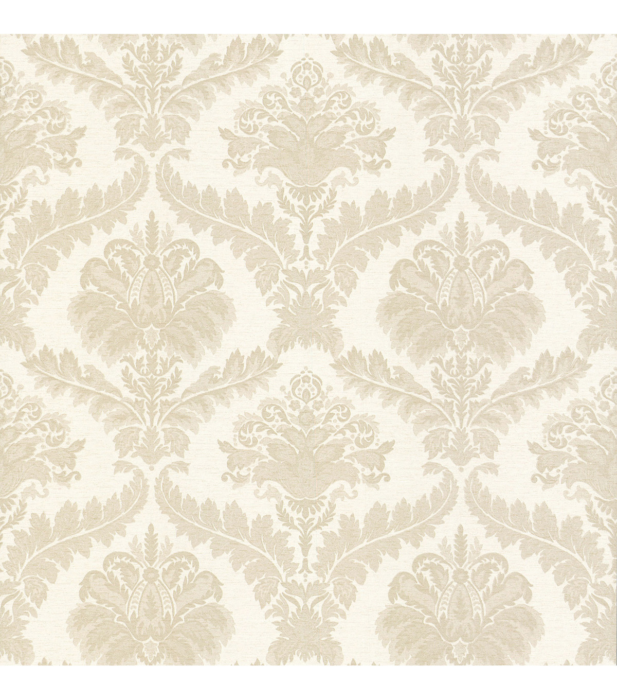 Arabella Cream Damask Wallpaper Sample